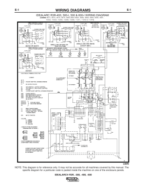 Wiring diagrams | Lincoln Electric IM409 IDEALARC R3R400 User Manual | Page 23  32