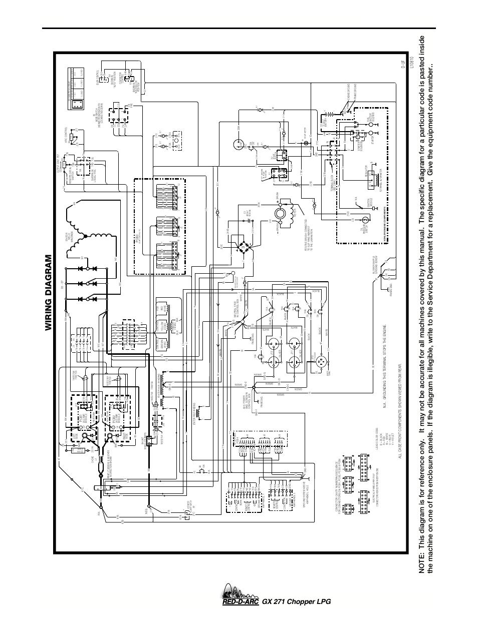 hight resolution of diagrams gx 271 chopper lpg wiring diagram lincoln electric im635 red d arc gx 271chopper lpg user manual page 44 48