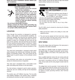 installation safety precautions warning lincoln electric im420 idealarc dc 1000 user manual page 9 34 [ 954 x 1235 Pixel ]