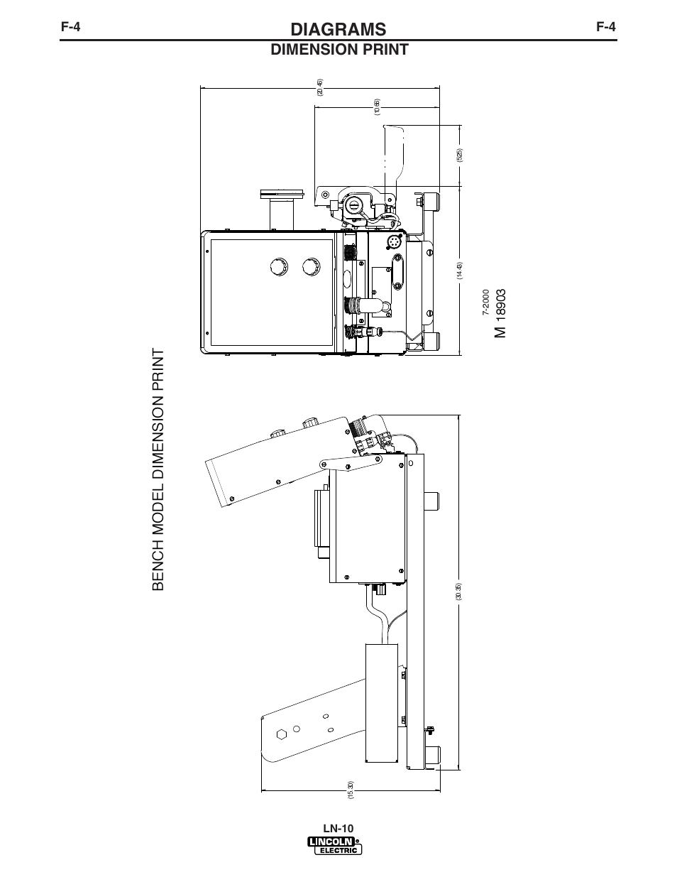 Diagrams, Dimension print, Bench model dimension print