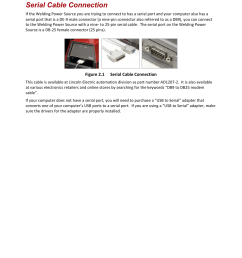 serial cable connection lincoln electric im8002 power wave manager user manual page 18 128 [ 954 x 1235 Pixel ]