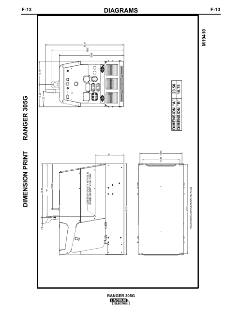 small resolution of diagrams dimension print ranger 305g f 13 lincoln electric im674 ranger 305 g user manual page 46 50