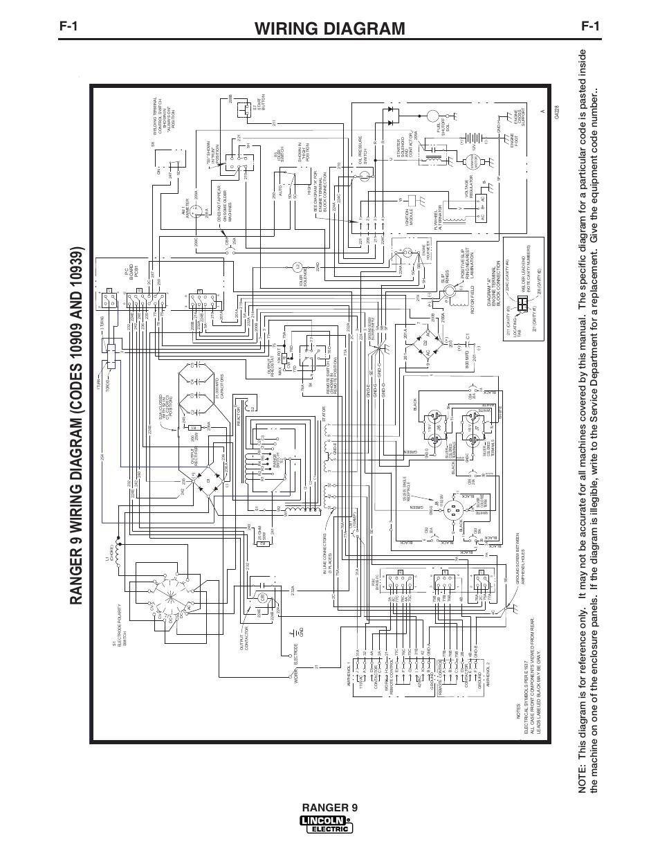lincoln ranger 9 wiring diagram