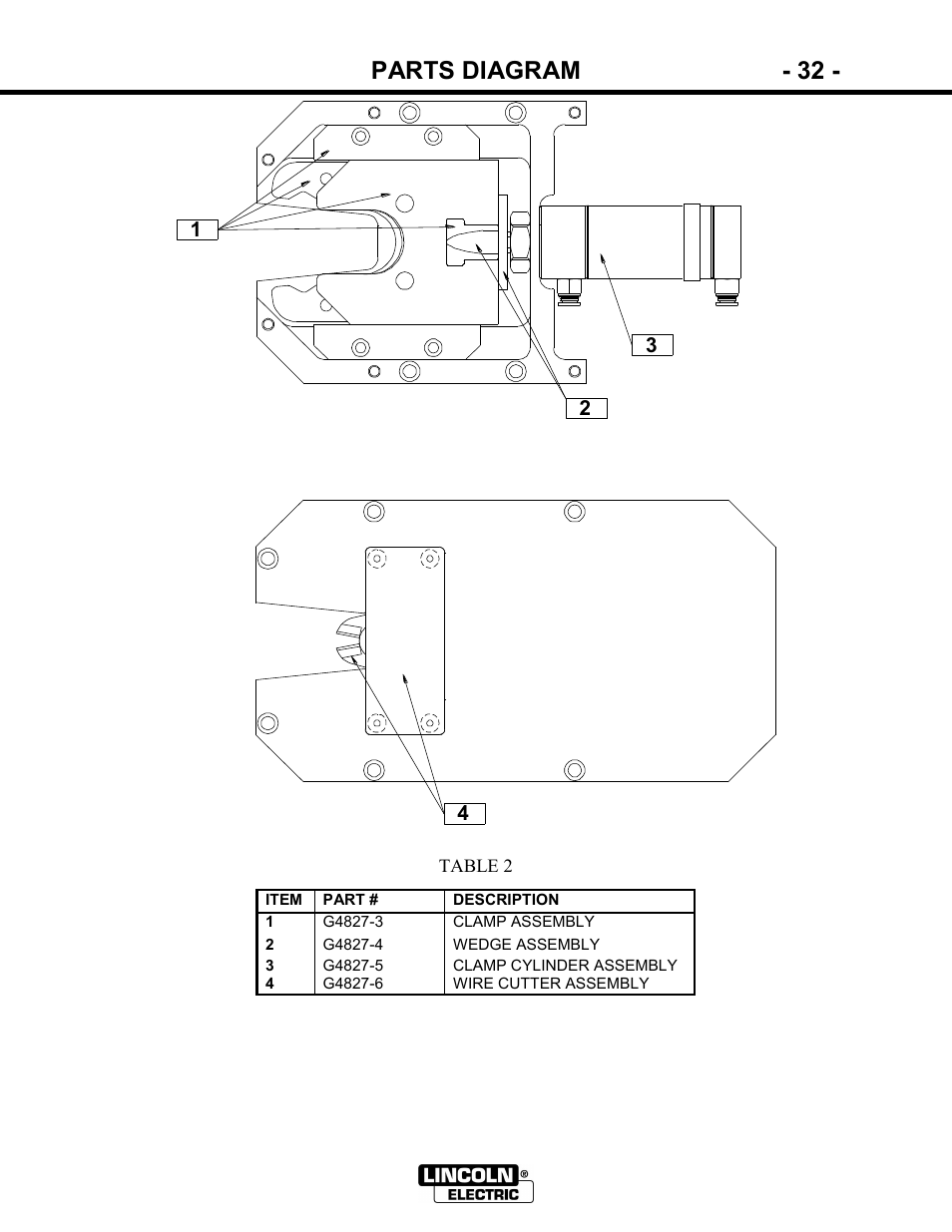 hight resolution of parts diagram 32 lincoln electric im866 power ream user manual page 32 36