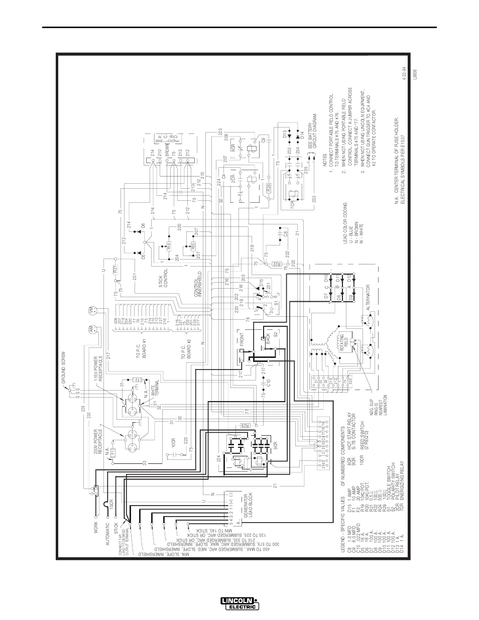 medium resolution of lincoln sam 400 wiring diagram