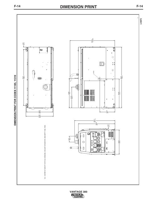 small resolution of dimension print f 14 vantage 300 lincoln electric im874 vantage 300 user