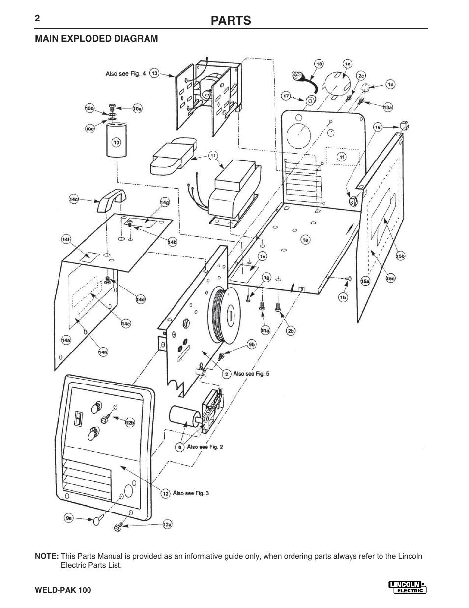 Lincoln Weld Pak 100 Parts Diagram