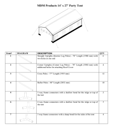 mdm products 14 x 27 party tent rhino shelter party tent 14w x 14l x 9h user manual page 19 33 [ 954 x 1235 Pixel ]
