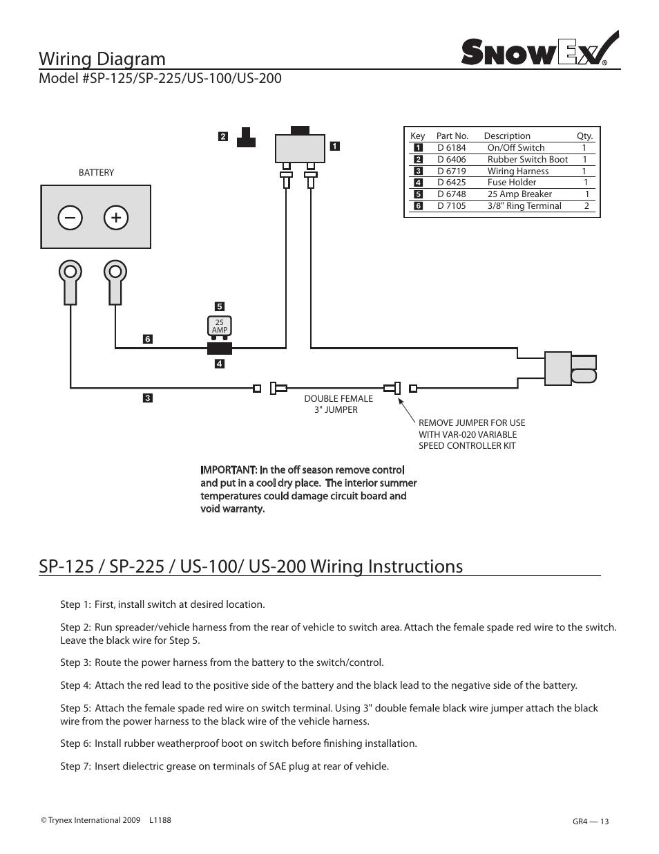 medium resolution of wiring diagram snowex sp 225 us 200 user manual page 13 27