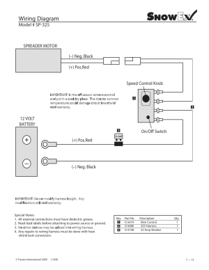 Wiring diagram, Model # sp325 | SnowEx Junior 325 User Manual | Page 15  51
