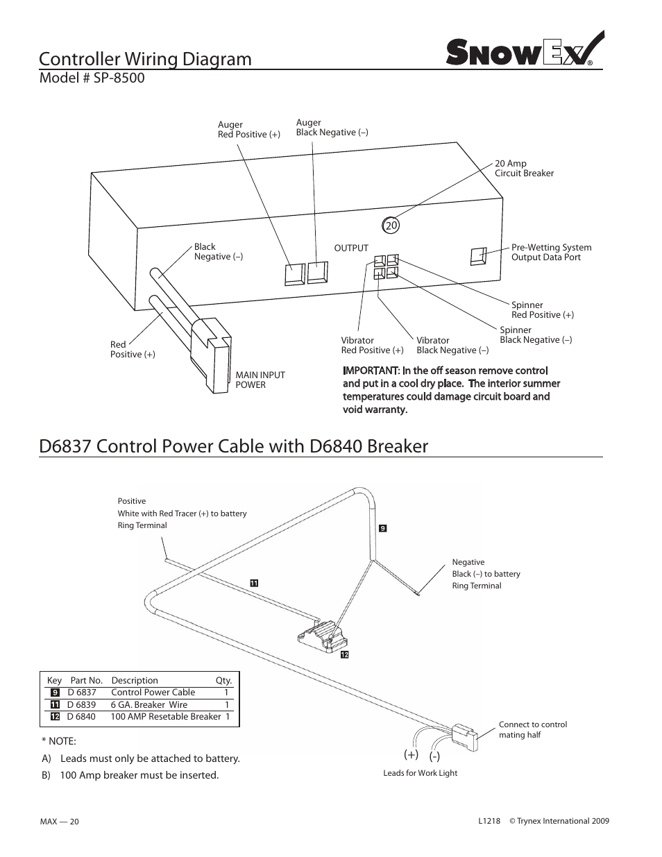 hight resolution of controller wiring diagram model sp 8500 snowex sp 8500 user manual page 18 34