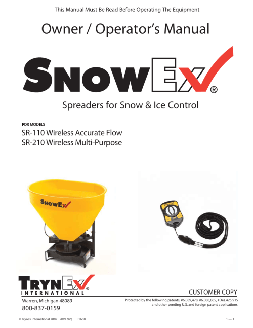 small resolution of snowex sr110 wiring diagram diagram data schema snowex sr 210 user manual 28 pages also for