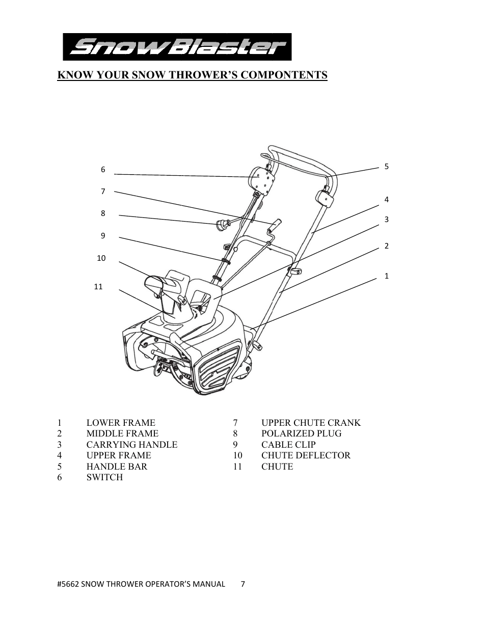 WEN 5662 13 A 18 inch Electric Snow Thrower User Manual