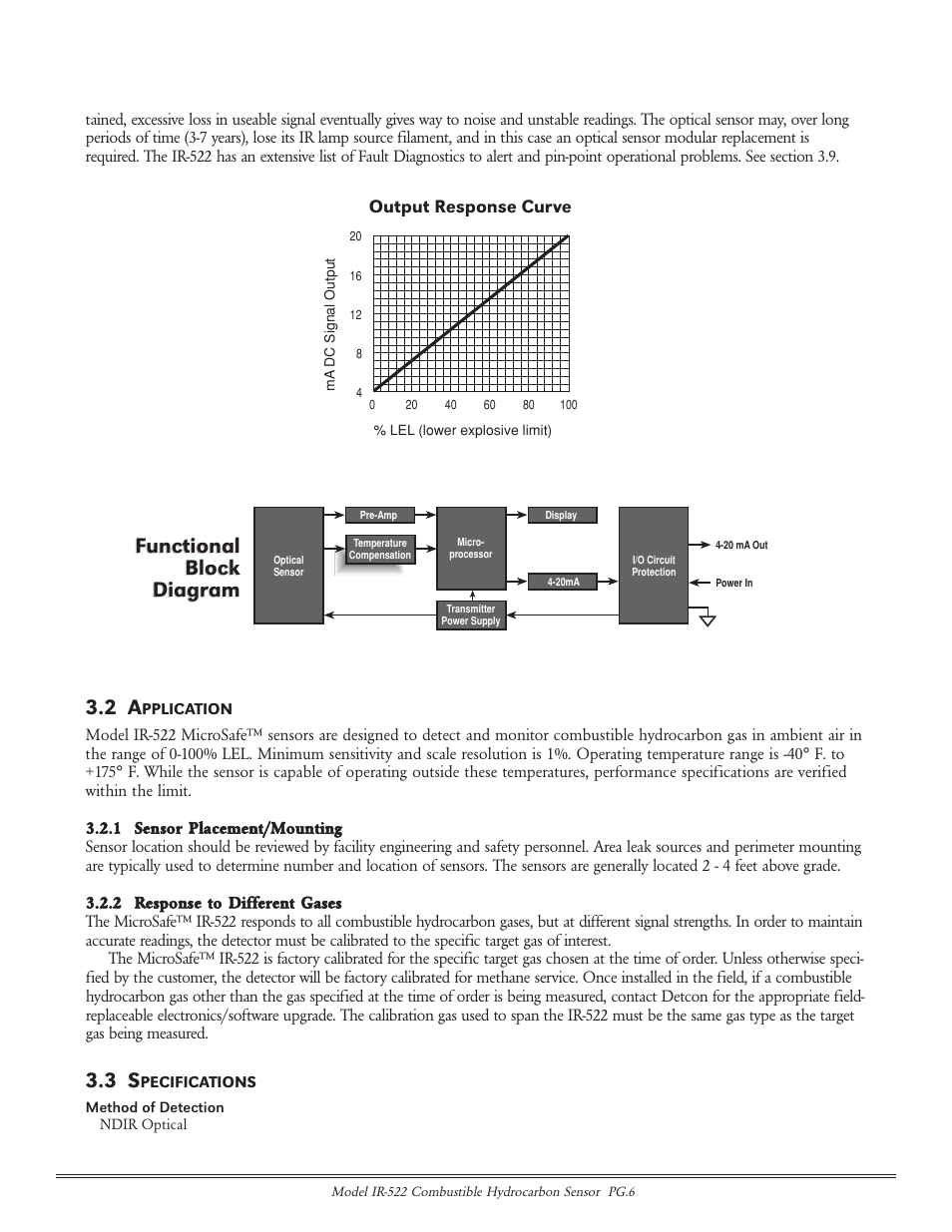 hight resolution of functional block diagram functional block diagram detcon ir 522 user manual page 6