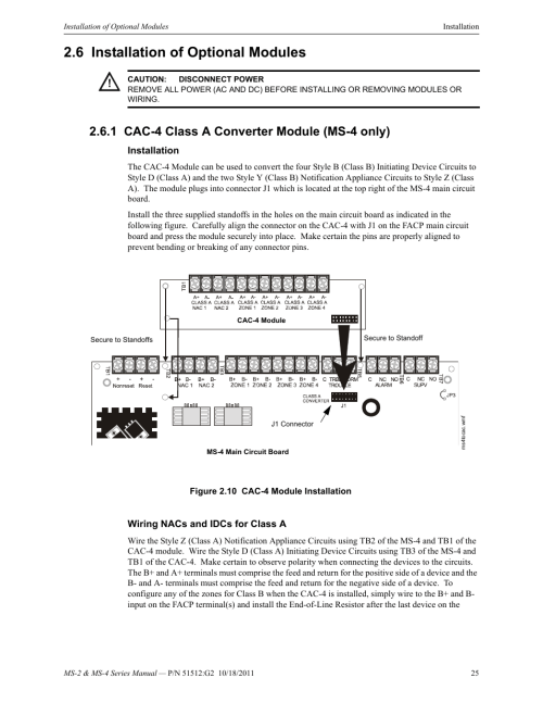 small resolution of 6 installation of optional modules 1 cac 4 class a converter module ms