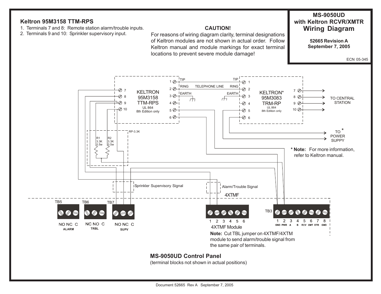 hight resolution of fire lite ms 9050ud with keltron transmitter receiver wiring diagram user manual 1 page