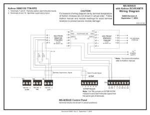 FireLite MS9050UD with Keltron TransmitterReceiver wiring diagram User Manual | 1 page
