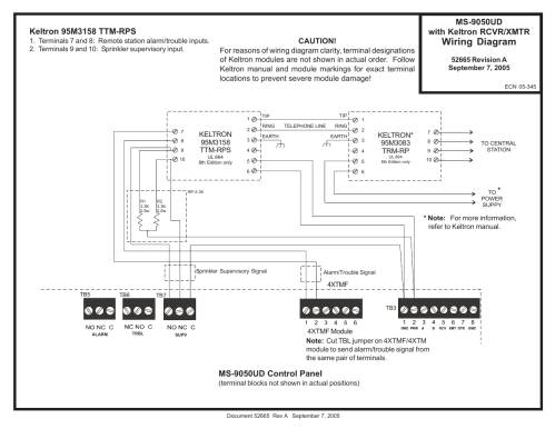 small resolution of fire lite ms 9050ud with keltron transmitter receiver wiring diagram user manual 1 page