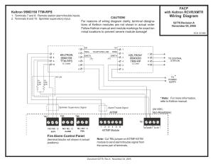 FireLite MS9200UDLS Keltron RCVRXMTR Wiring Diagram