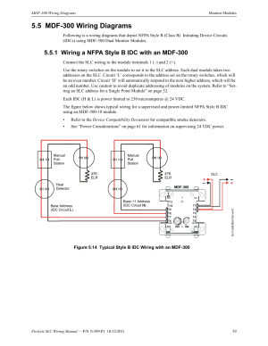 5 mdf300 wiring diagrams, 1 wiring a nfpa style b idc with an mdf300, Mdf300 wiring diagrams