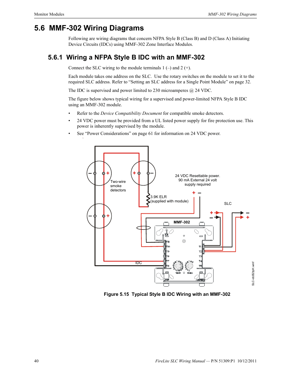 hight resolution of 6 mmf 302 wiring diagrams 1 wiring a nfpa style b idc with an mmf6