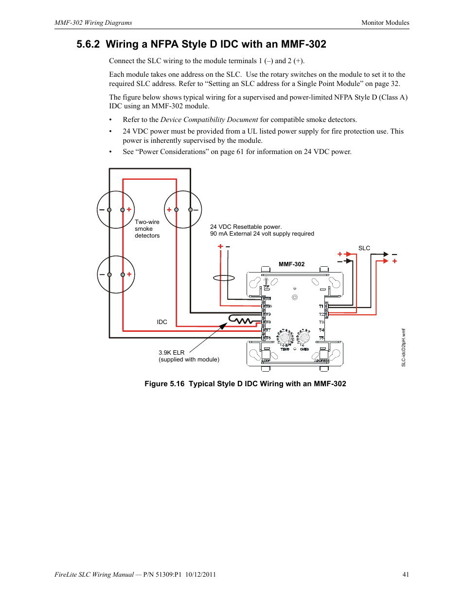 hight resolution of 2 wiring a nfpa style d idc with an mmf 302 wiring a nfpa style d idc with an mmf 302 fire lite slc intelligent control panel wiring manual user manual