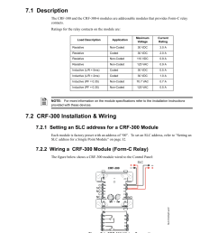 section 7 relay modules 1 description 2 crf 300 installation wiring fire lite slc intelligent control panel wiring manual user manual page 51 80 [ 954 x 1235 Pixel ]