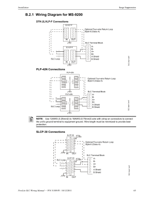 B21 wiring diagram for ms9200, Dtk2lvlpf connections
