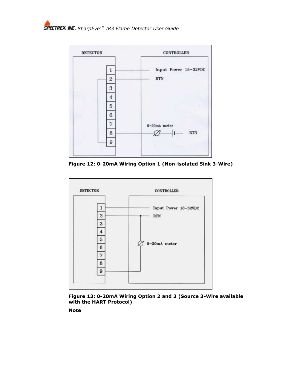hight resolution of figure 12 figure 13 spectrex 40 40i triple ir ir3 flame detector user manual page 66 80