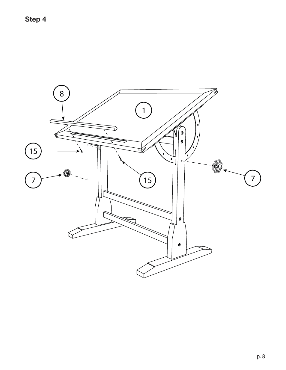 Studio Designs Vintage Drafting Table 42 inch User Manual