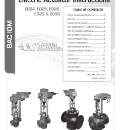 warren controls e030 electric actuator user manual 16 pages also for e029 electric actuator e026 electric actuator e025 electric actuator  [ 954 x 1235 Pixel ]