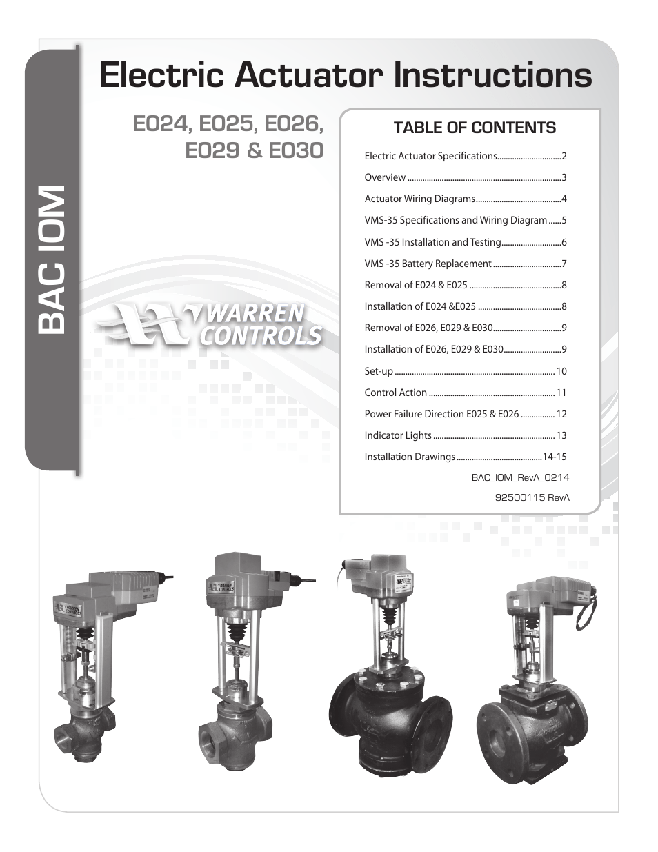medium resolution of warren controls e030 electric actuator user manual 16 pages also for e029 electric actuator e026 electric actuator e025 electric actuator
