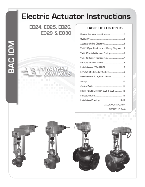 small resolution of warren controls e030 electric actuator user manual 16 pages also for e029 electric actuator e026 electric actuator e025 electric actuator