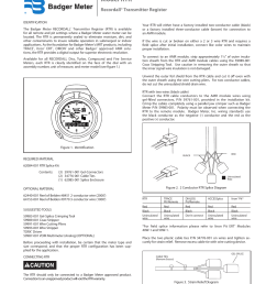 badger meter water conditioning user manual 2 pages also for recordall transmitter register [ 954 x 1235 Pixel ]