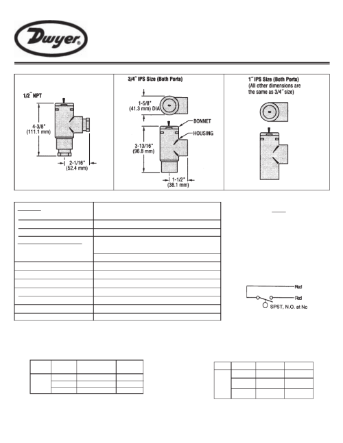 small resolution of  dwyer p5 user manual 2 pages on 240v single phase diagram 120 240v transformer v flow switch wiring