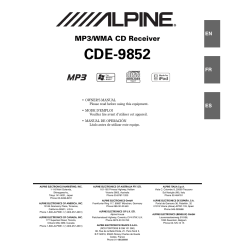 Alpine Cda 9856 Wiring Diagram Golf Cart Battery Ez Go Cde 9852 Library User Manual 29 Pages Ine W940