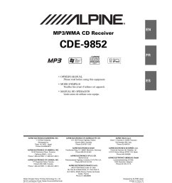 alpine cde 9852 user manual 29 pages [ 954 x 1278 Pixel ]