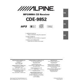 alpine cde 9852 user manual 29 pagesalpine cde 9852 wiring diagram 3 [ 954 x 1278 Pixel ]