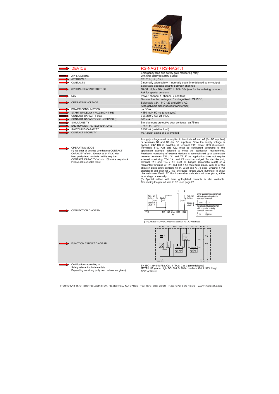 hight resolution of device rs nagt rs nagt 1 norstat safety relays user manual page 16 43