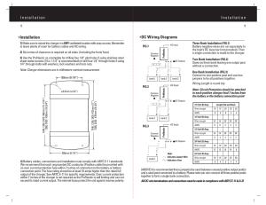 Dc wiring diagrams, Installation   ProMariner ProNautic C3
