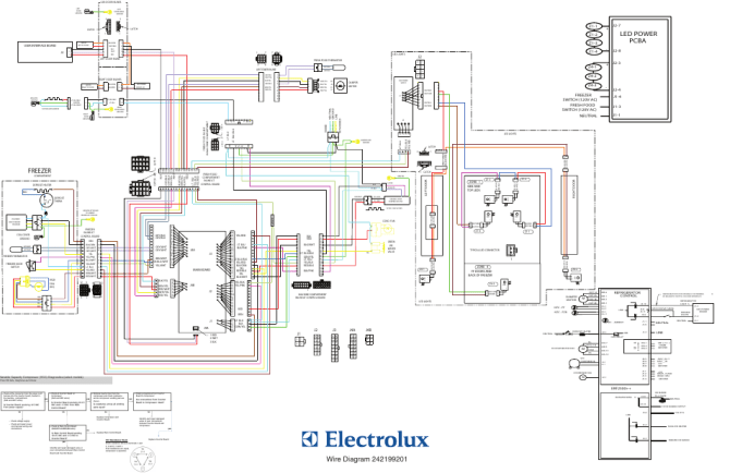diagramwiring freezer led power pcba  electrolux