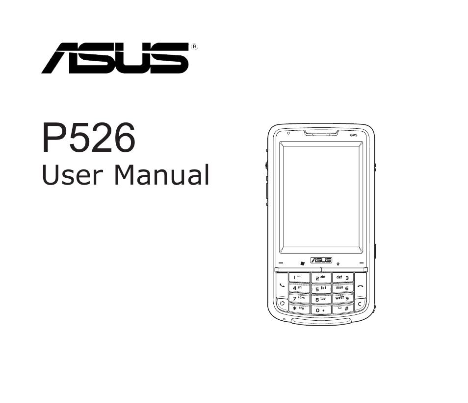 ASUS P526 MANUAL PDF