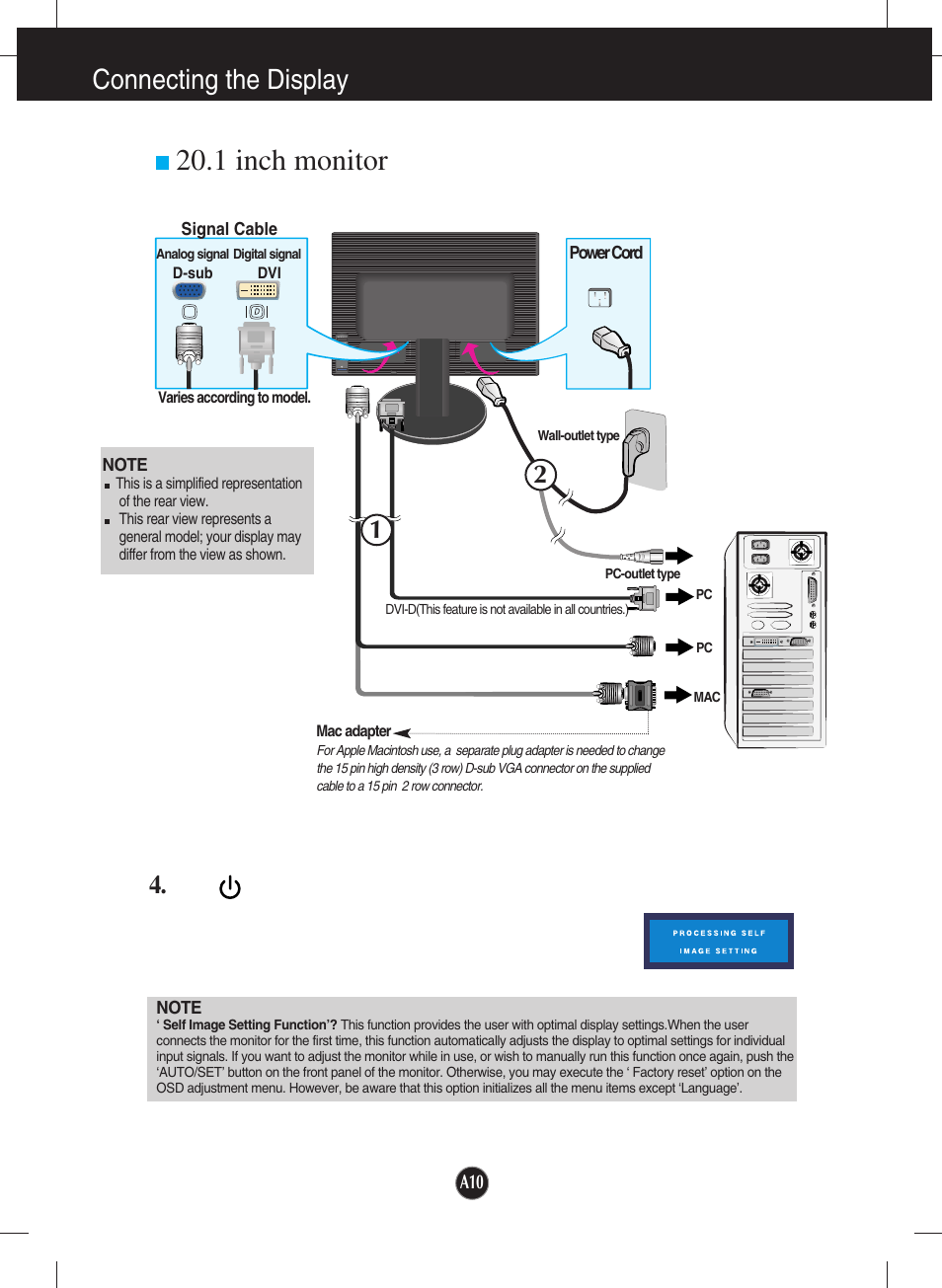 hight resolution of 1 inch monitor connecting the display lg l204wt bf user manual page 11 32