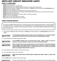 actron starter switch user manual 2 pages also for cp7854 h d remote starter switch cp7854 [ 954 x 1193 Pixel ]