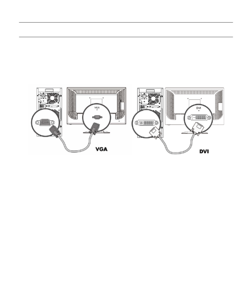 small resolution of cables attaching the cables hp v185e 18 5 inch widescreen lcd monitor user manual page 8 30