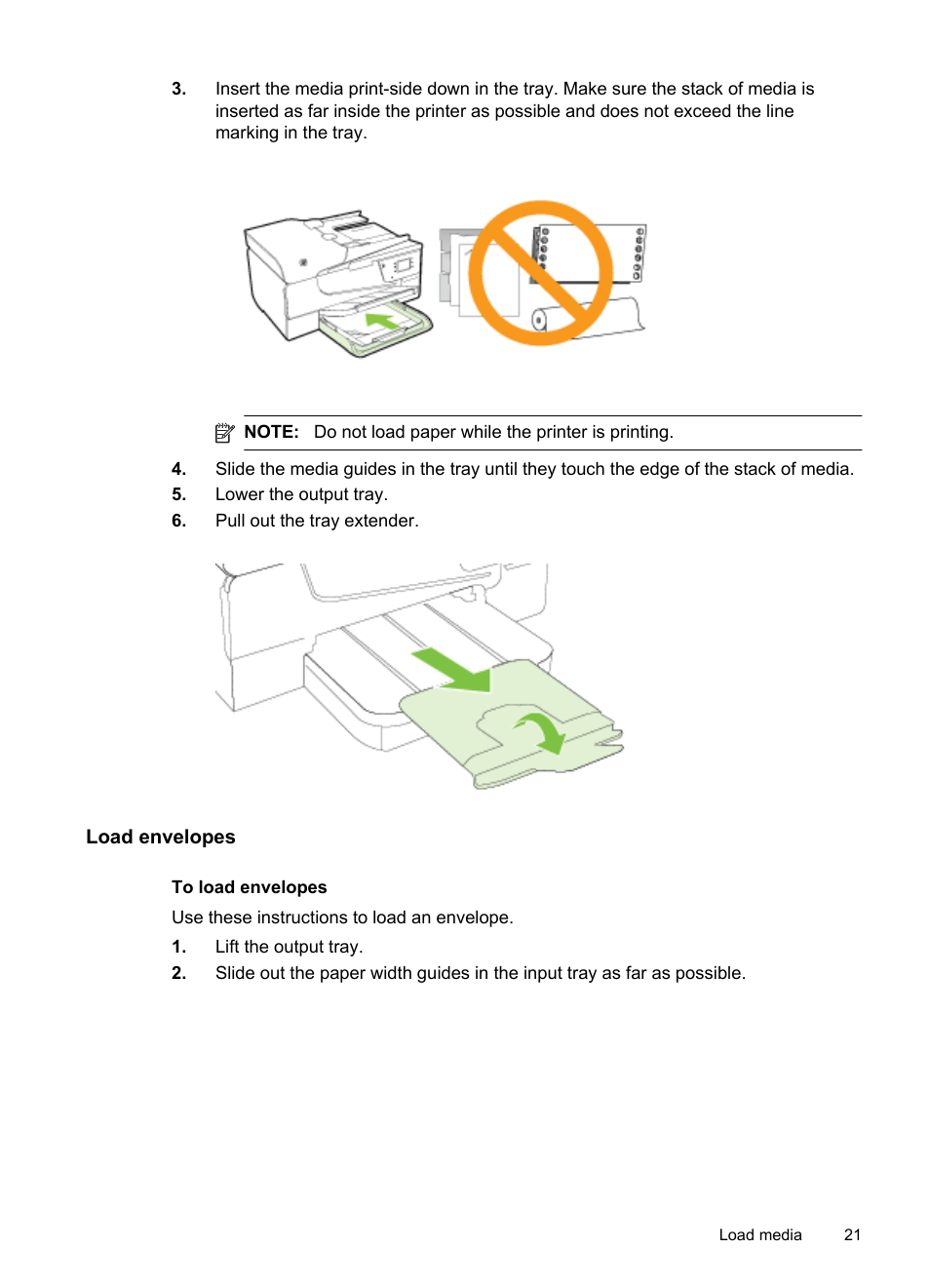medium resolution of load envelopes hp officejet 6600 e all in one printer h711a h711g user manual page 25 216