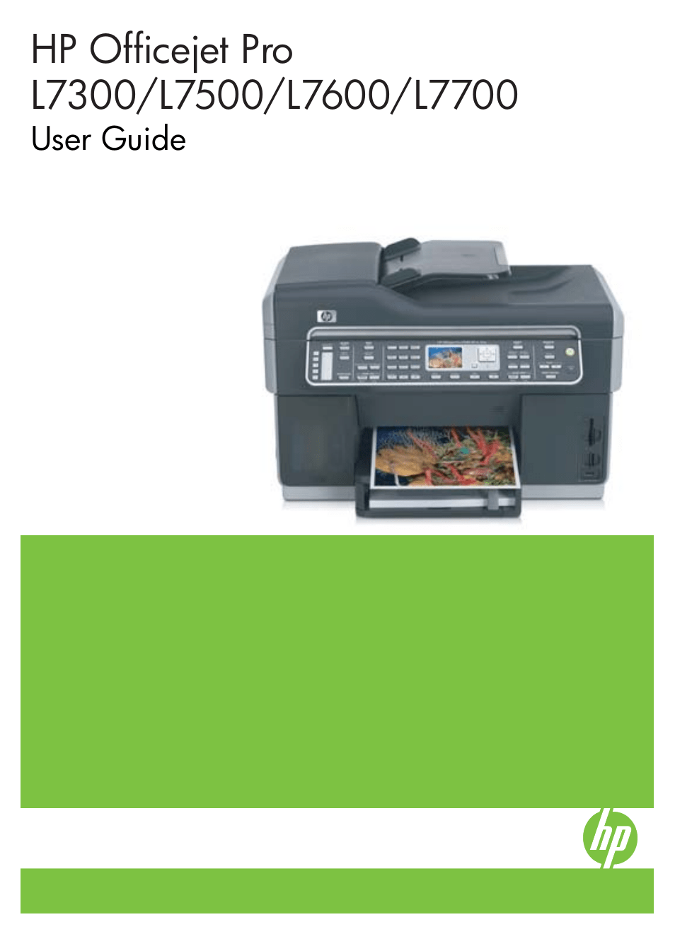HP Officejet Pro L7380 All-in-One Printer User Manual