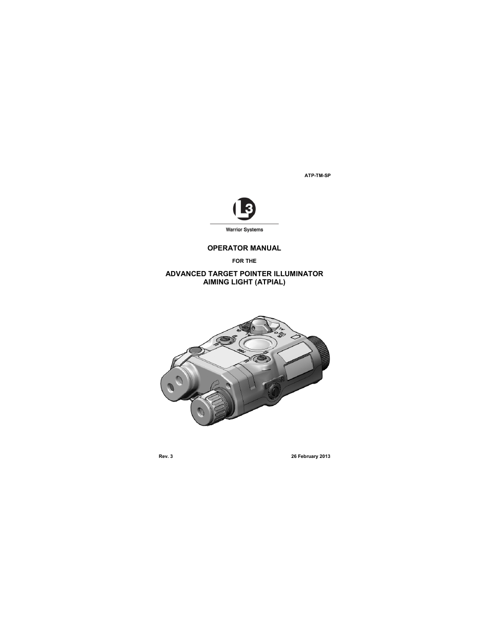 Technical Manual Outline