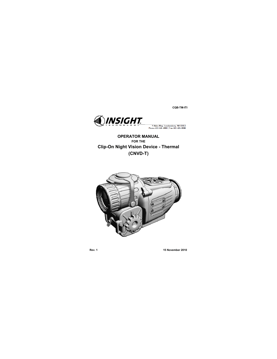 EOTech CNVD-T (SU-232/PAS) Clip-On Night Vision Device