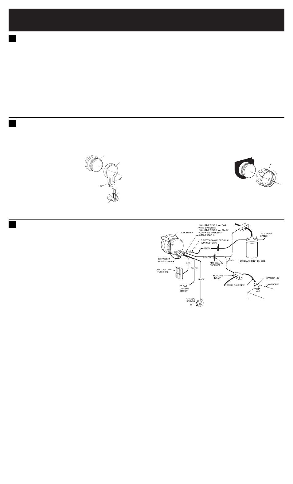 medium resolution of equus tach wiring wiring diagram for youequus 8080 5 shift light tachometer dis user